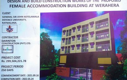Commencement of Construction of the Female Accommodation Building at Werahera