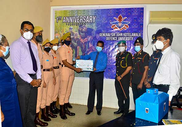 First Anniversary Celebration of Intake 38, Donate One Syringe Pump and Eighteen Fingertip Pulse Oximeters to Lady Ridgeway Hospital