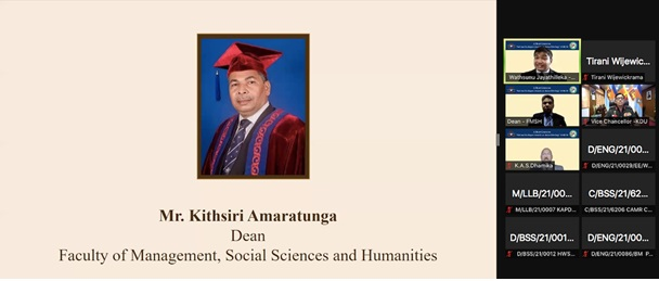 """The Inauguration Ceremony of the Short Course on """"Cultural Linkages towards an Asian Ideology"""" 2021/2022"""