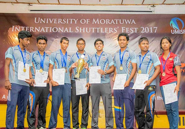 KDU Wins the Inter University Badminton Champs Trophy 2017