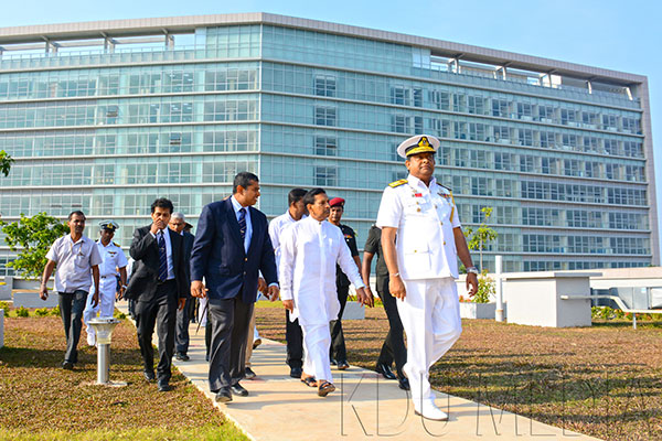 Health Minister Visit to University Hospital General Sir John Kotelawala Defence University
