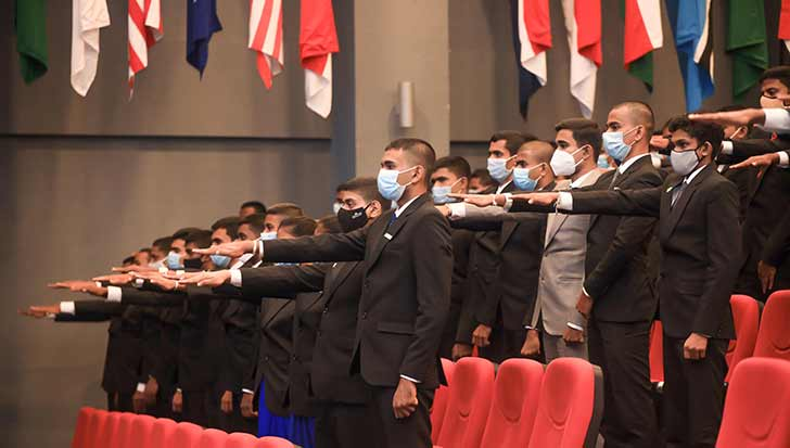 Induction of Officer Cadets to KDU