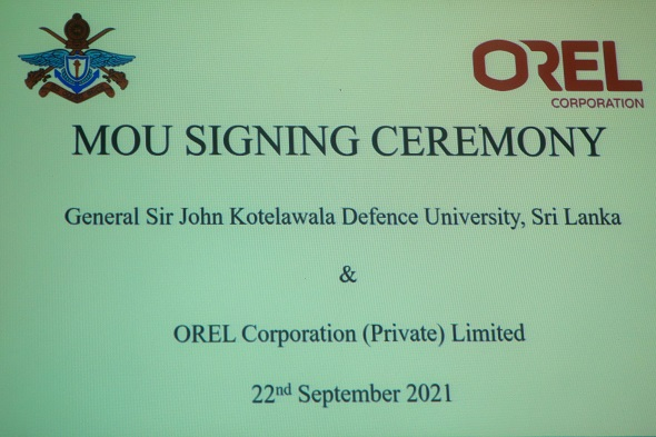 KDU signs an Industrial collaboration agreement with OREL Corporation (Pvt) Ltd
