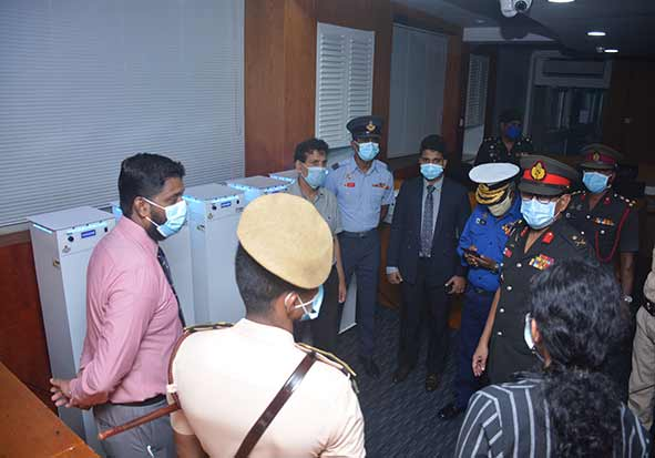 Handing over six units of UV Air Purifiers to be used in KDU hospital