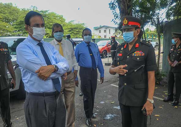 Visit of PTF Tackling Health Security of Tri Services KDU