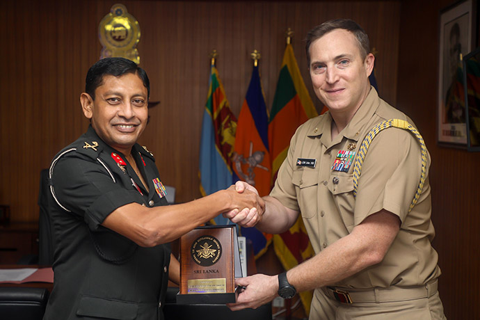 Outgoing Naval Attaché of the US Embassy