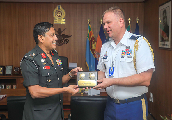Visit of  US Defence Attache