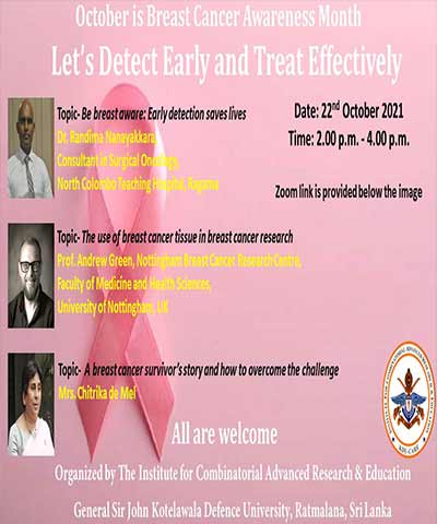October is Breast Cancer Awareness Month – Let's Detect Early and Treat Effectively